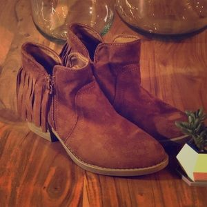 Seychelles Vegan Suede Fringe Boots